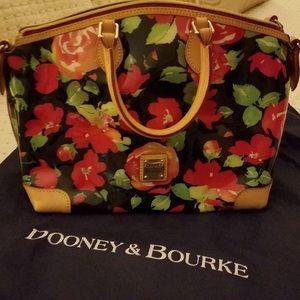 Dooney and Bourke Zip Top Floral Satchel